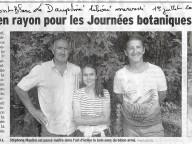 Article dans le Dauphiné Libéré.