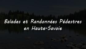 Site de randonnées en Haute-Savoie.