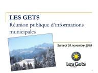 Réunion publique d'informations municipales 28 novembre 2015 (1ere partie)