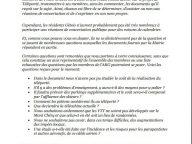 Lettre de la Présidente de l'ARG au Maire des Gets au sujet de la concertation sur le Téléporté