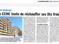 Article du Dauphiné du 21 Juillet sur le lancement de l'opération Affiniski aux Gets