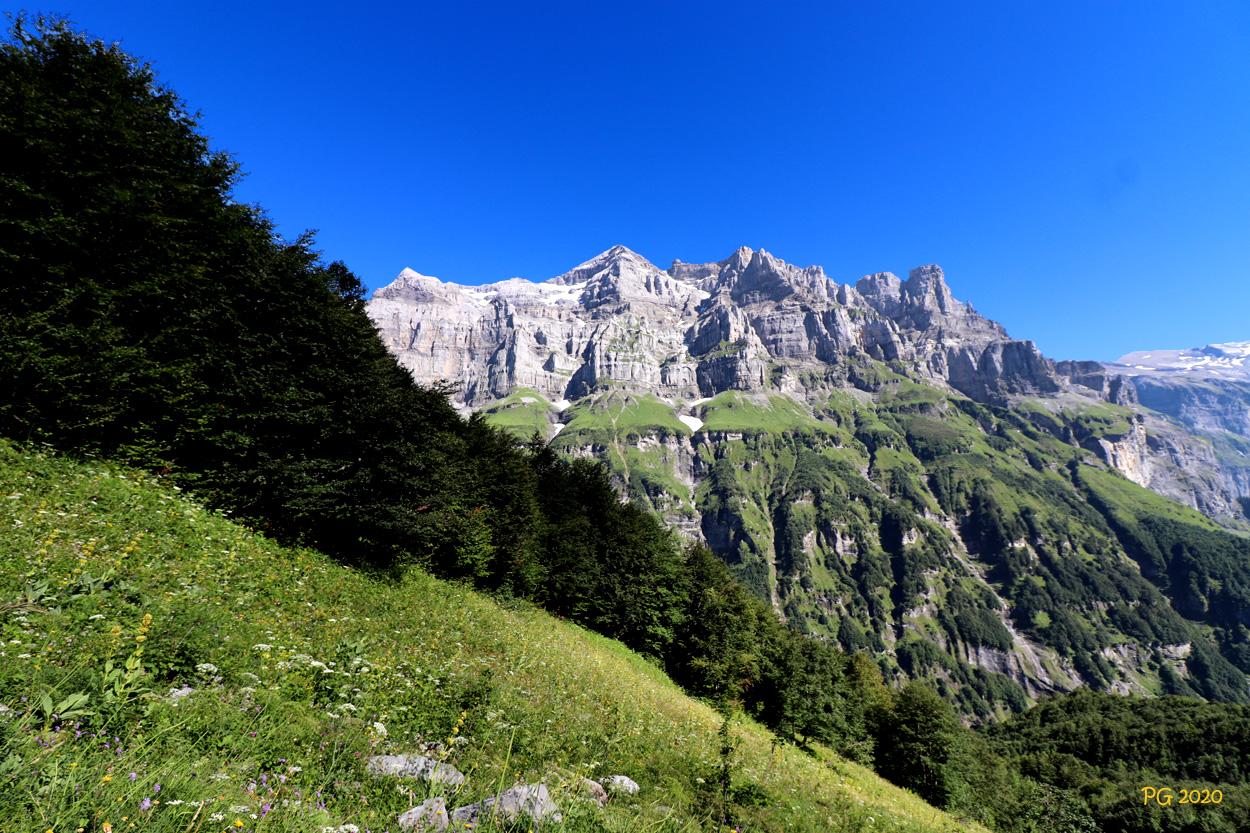 Massif du Tenneverge a la descente