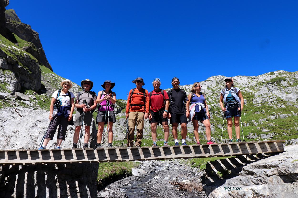 Sur le pont du refuge de La Vogealle1