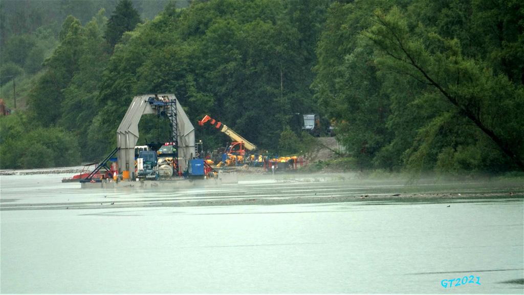 Machine a aspirer les alluvions